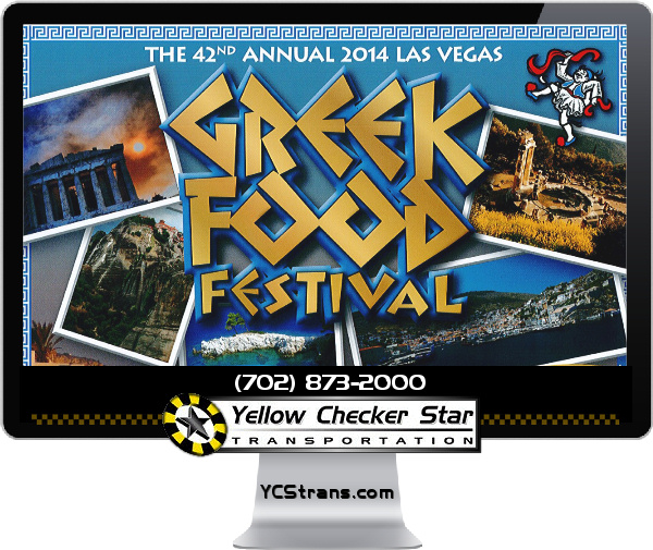 $1,000 Donation in support of the 42nd Annual Las Vegas Greek Festival by Yellow-Checker-Star Transportation
