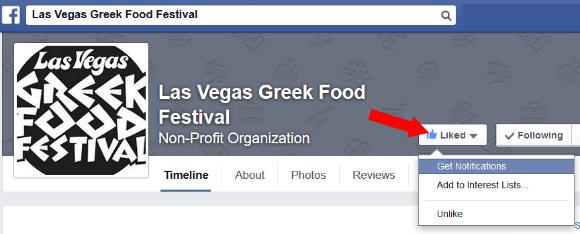 Follow The Las Vegas Greek Food Festival on Facebook!