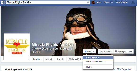 Click Here to Follow Miracle Flights on Facebook!
