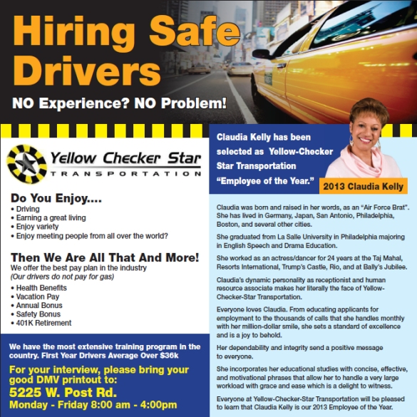 YCStrans Hiring Safe Drivers Eff. 12/2013 APPLY NOW!