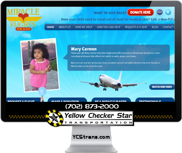 MIRACLE FLIGHTS DONATION BY YELLOW CHECKER STAR TRANSPORTATION - YCSTRANS.COM