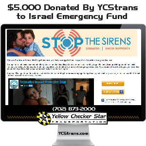 $5,000 Donation to Israel Emergency Fund by Yellow-Checker-Star Transportation