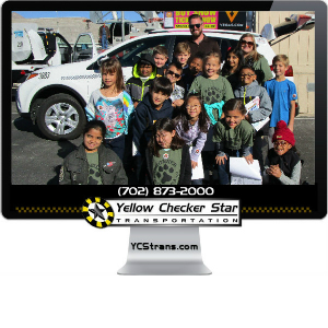 Yellow Checker Star Cab Attends Career Day on Wheels at Bonner Elementary
