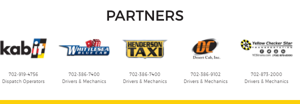 Join Yellow-Checker-Star in Partnering with Kabit.Vegas to improve the taxi cab service experience today!