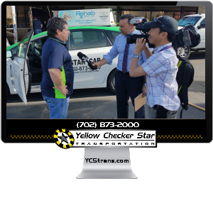 Yellow-Checker-Star Taxi Cabs in Las Vegas Partners with Kabit