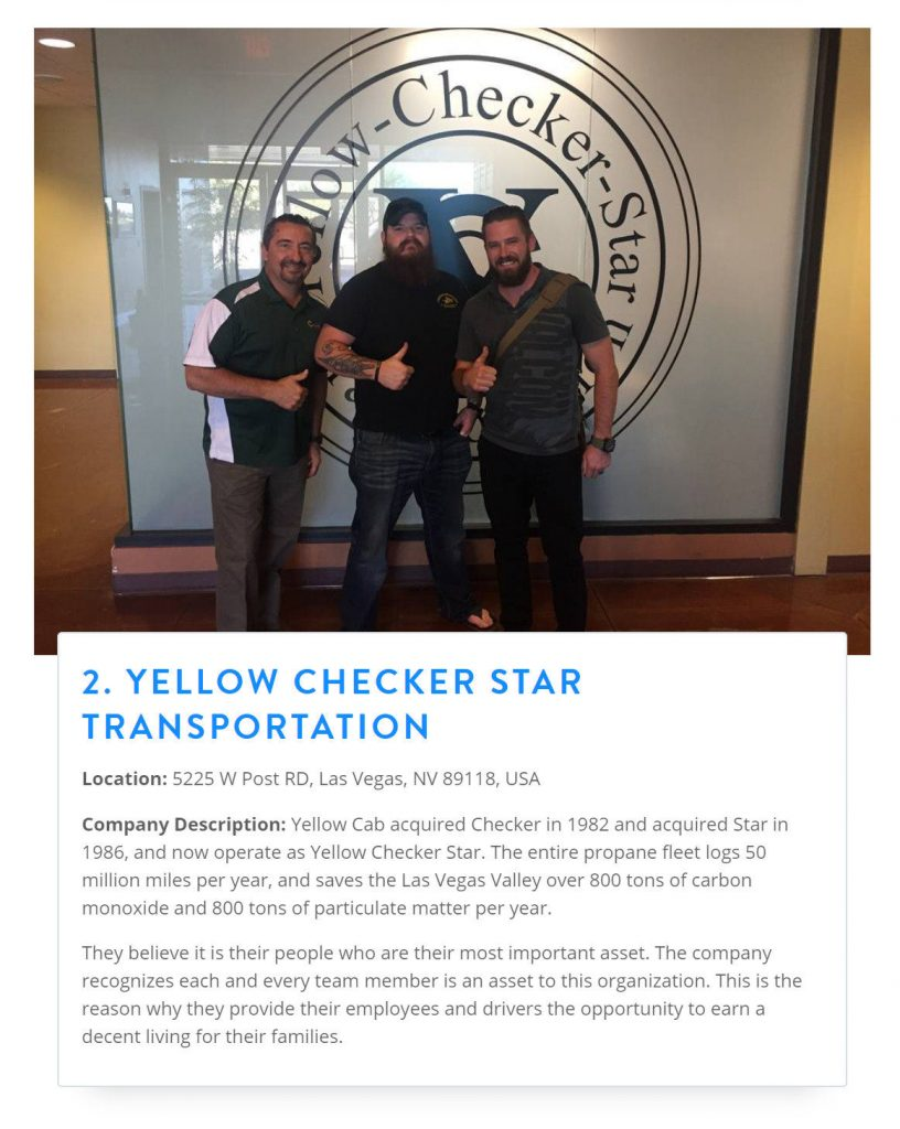 Yellow Checker Star #2 Best Place To Work In Las Vegas Nevada