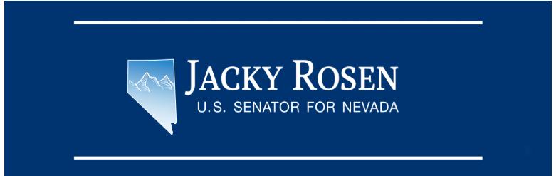 Jacky Rosen U.S. Senator for Nevada - Header